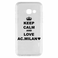 Чохол для Samsung A3 2017 Keep calm and love AC Milan