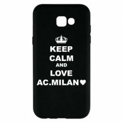 Чохол для Samsung A7 2017 Keep calm and love AC Milan