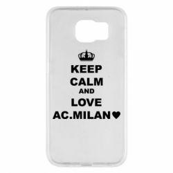Чохол для Samsung S6 Keep calm and love AC Milan