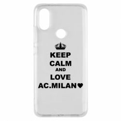 Чохол для Xiaomi Mi A2 Keep calm and love AC Milan