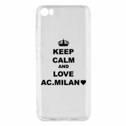 Чохол для Xiaomi Mi5/Mi5 Pro Keep calm and love AC Milan