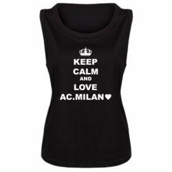 Майка жіноча Keep calm and love AC Milan
