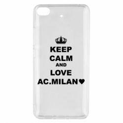 Чохол для Xiaomi Mi 5s Keep calm and love AC Milan