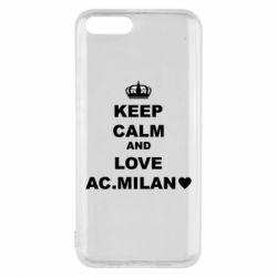Чохол для Xiaomi Mi6 Keep calm and love AC Milan