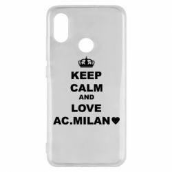 Чохол для Xiaomi Mi8 Keep calm and love AC Milan