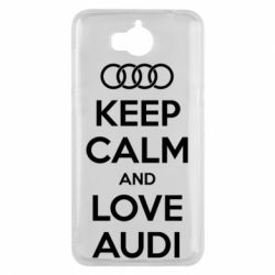Чехол для Huawei Y5 2017 Keep Calm and Love Audi - FatLine