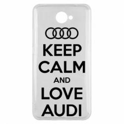 Чехол для Huawei Y7 2017 Keep Calm and Love Audi - FatLine