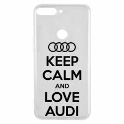 Чехол для Huawei Y7 Prime 2018 Keep Calm and Love Audi - FatLine