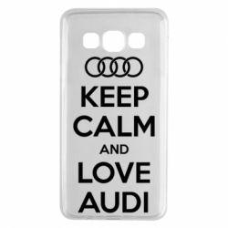 Чехол для Samsung A3 2015 Keep Calm and Love Audi