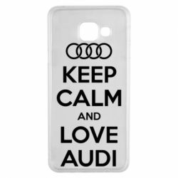 Чехол для Samsung A3 2016 Keep Calm and Love Audi