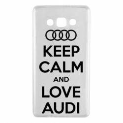 Чехол для Samsung A7 2015 Keep Calm and Love Audi