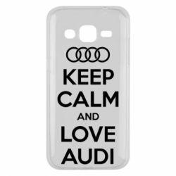 Чехол для Samsung J2 2015 Keep Calm and Love Audi