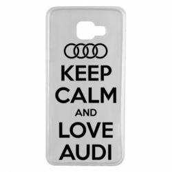 Чехол для Samsung A7 2016 Keep Calm and Love Audi