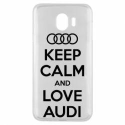 Чехол для Samsung J4 Keep Calm and Love Audi