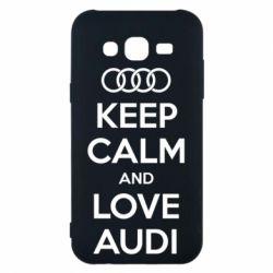 Чехол для Samsung J5 2015 Keep Calm and Love Audi