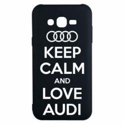 Чехол для Samsung J7 2015 Keep Calm and Love Audi