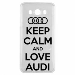Чехол для Samsung J7 2016 Keep Calm and Love Audi
