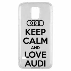 Чехол для Samsung S5 Keep Calm and Love Audi