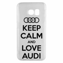 Чехол для Samsung S6 EDGE Keep Calm and Love Audi