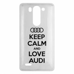 Чехол для LG G3 mini/G3s Keep Calm and Love Audi - FatLine