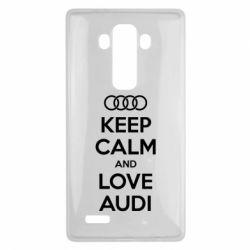 Чехол для LG G4 Keep Calm and Love Audi - FatLine