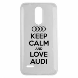 Чехол для LG K7 2017 Keep Calm and Love Audi - FatLine