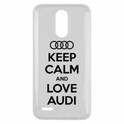 Чехол для LG K10 2017 Keep Calm and Love Audi - FatLine