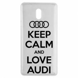 Чехол для Nokia 3 Keep Calm and Love Audi - FatLine