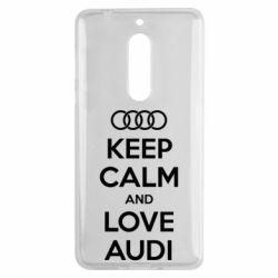 Чехол для Nokia 5 Keep Calm and Love Audi - FatLine