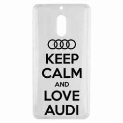 Чехол для Nokia 6 Keep Calm and Love Audi - FatLine