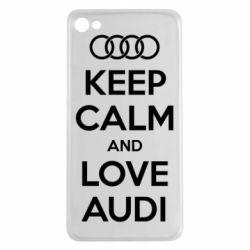 Чехол для Meizu U20 Keep Calm and Love Audi - FatLine