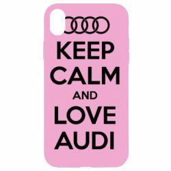 Чехол для iPhone XR Keep Calm and Love Audi