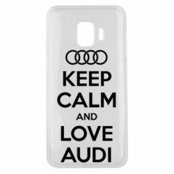 Чехол для Samsung J2 Core Keep Calm and Love Audi