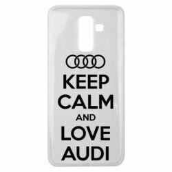 Чехол для Samsung J8 2018 Keep Calm and Love Audi