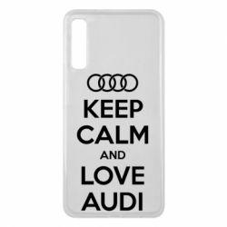 Чехол для Samsung A7 2018 Keep Calm and Love Audi