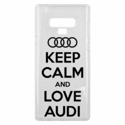 Чехол для Samsung Note 9 Keep Calm and Love Audi