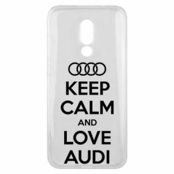 Чехол для Meizu 16x Keep Calm and Love Audi - FatLine