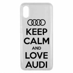 Чехол для Xiaomi Mi8 Pro Keep Calm and Love Audi
