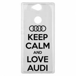 Чехол для Sony Xperia XA2 Plus Keep Calm and Love Audi - FatLine