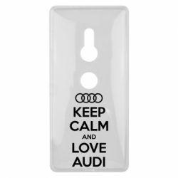 Чехол для Sony Xperia XZ2 Keep Calm and Love Audi - FatLine