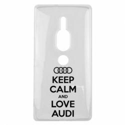 Чехол для Sony Xperia XZ2 Premium Keep Calm and Love Audi - FatLine