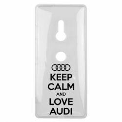 Чехол для Sony Xperia XZ3 Keep Calm and Love Audi - FatLine