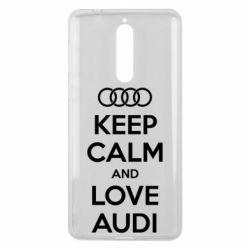 Чехол для Nokia 8 Keep Calm and Love Audi - FatLine