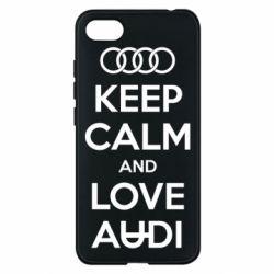 Чехол для Xiaomi Redmi 6A Keep Calm and Love Audi - FatLine