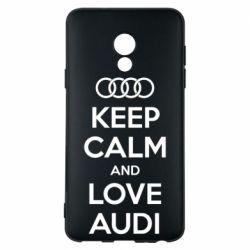 Чехол для Meizu 15 Lite Keep Calm and Love Audi - FatLine
