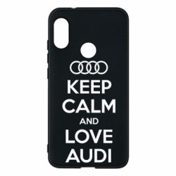 Чехол для Mi A2 Lite Keep Calm and Love Audi - FatLine