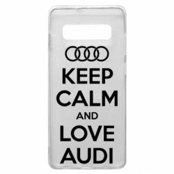 Чехол для Samsung S10+ Keep Calm and Love Audi