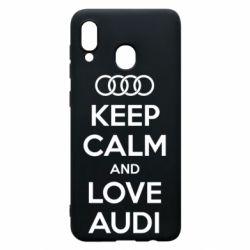 Чехол для Samsung A20 Keep Calm and Love Audi