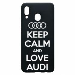 Чехол для Samsung A30 Keep Calm and Love Audi