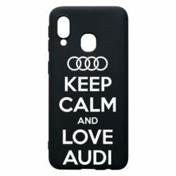 Чехол для Samsung A40 Keep Calm and Love Audi